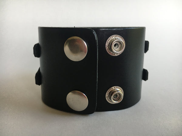 Unisex Leather Bracelet with Silver Accents - FESTIVALUNIVERSE