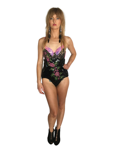 Pink Roses Playsuit - FESTIVALUNIVERSE