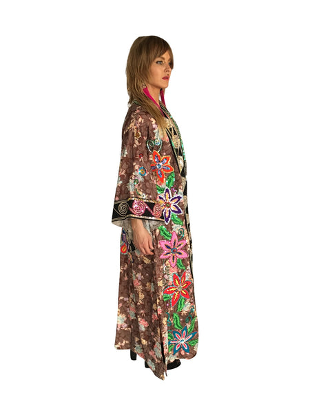 Unisex One of a kind Hand Sequined Kimono - FESTIVALUNIVERSE