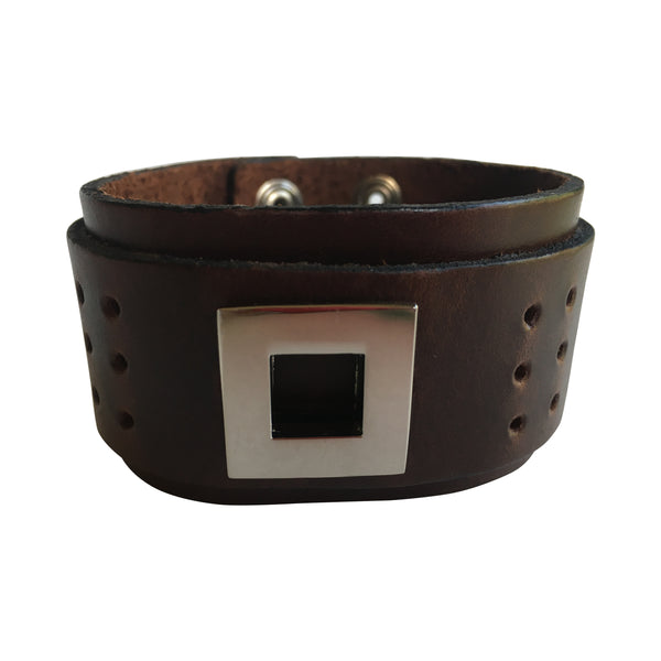 Men's Leather Bracelet - FESTIVALUNIVERSE