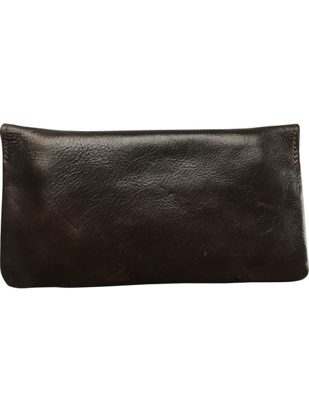 Soft Leather Tobacco Pouch in Black or Dark Brown - FESTIVALUNIVERSE