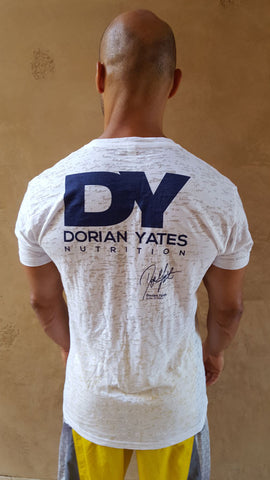 DY Nutrition V-Neck T-Shirt in Ivory