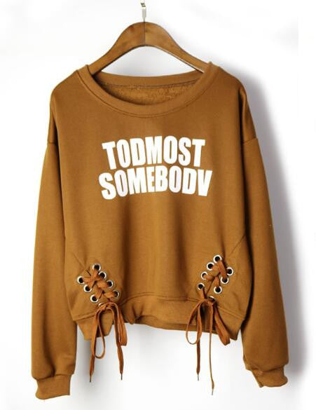 Letter Print Casual Sweatshirt