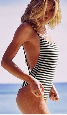 Stripe One Piece Swimsuit