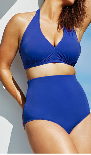 Plus Size High Waist  Bikini Set