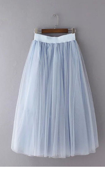 Grenadine Elastic Waist  Sweet Skirt