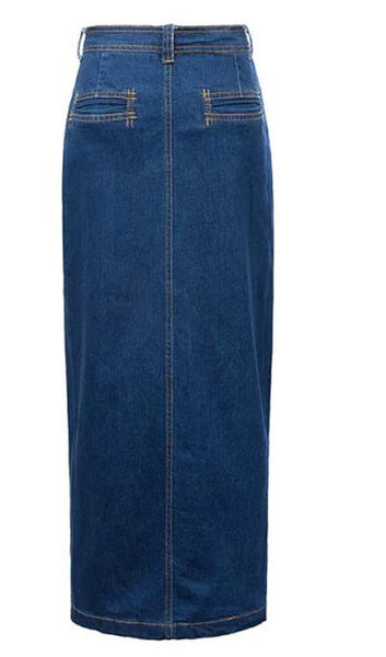 Slit Denim Skirt