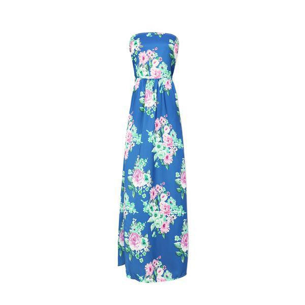 Be Your Love Floral Strapless Maxi Dress