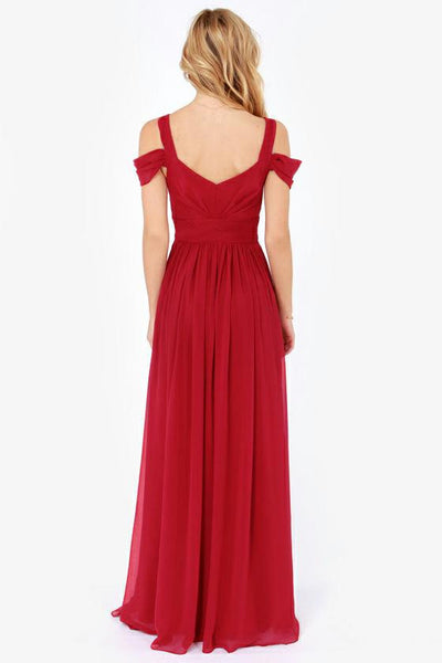 Romoti Waiting For You Off The Shoulder Maxi Dress