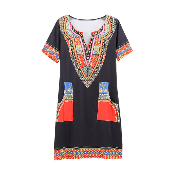Bohemian Bodycon Mini Dress