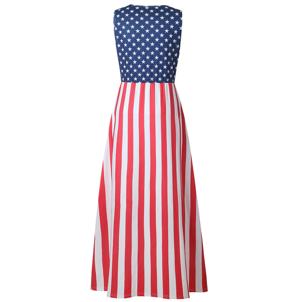 Stripe And Star Maxi Dress