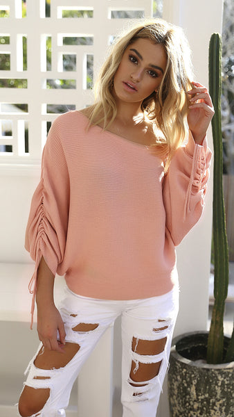 Knit Bat Sleeve Top