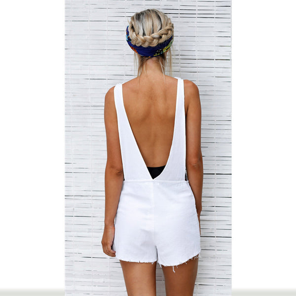 Casual Backless Jumpsuit