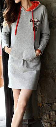 Romoti Hooded Sweatshirt Dress