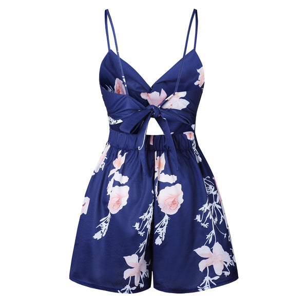 Floral Hollow Romper