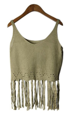 Romoti Tassel Knit Top