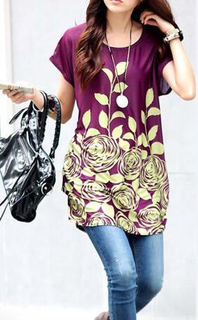 Romoti Round Neck Floral Top