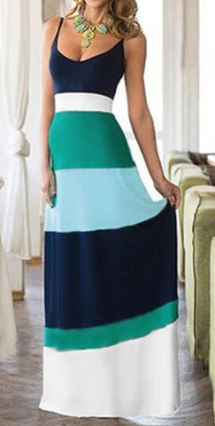Begin The Journey Colour Stripe Maxi Dress