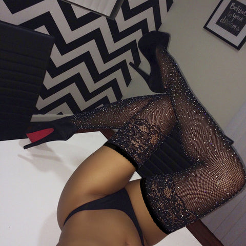 Black Sequins Stockings