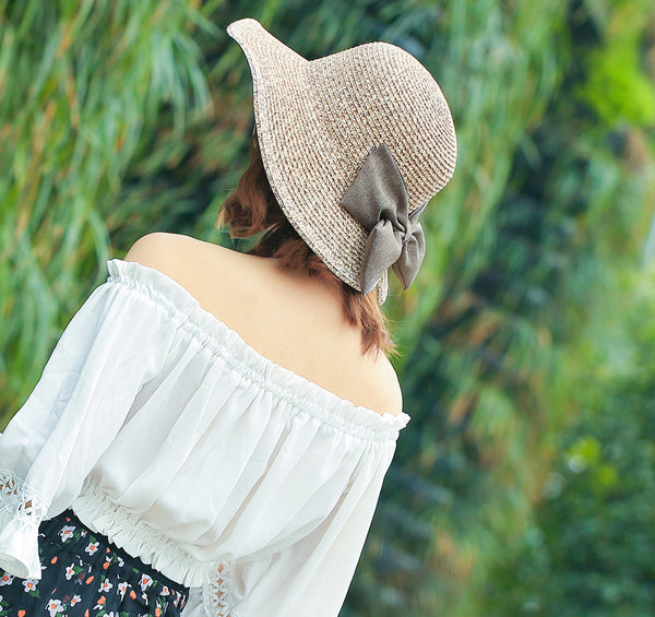 Bow Straw Hat
