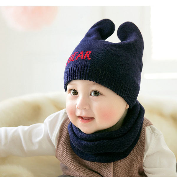 Casual Kids Hats And Scarf