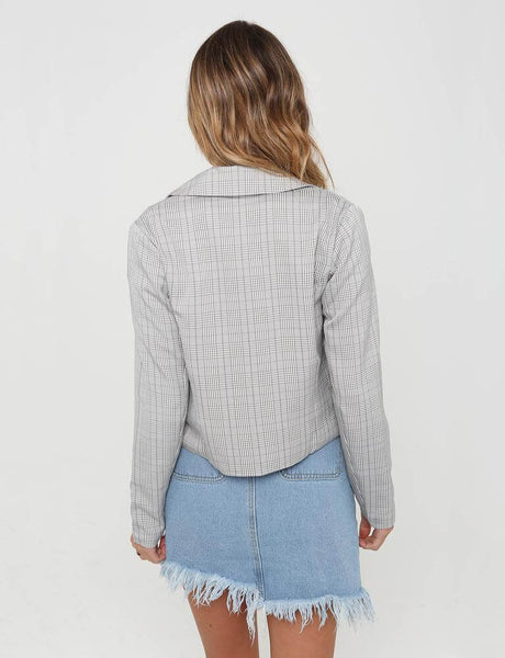 Checked Print Suit