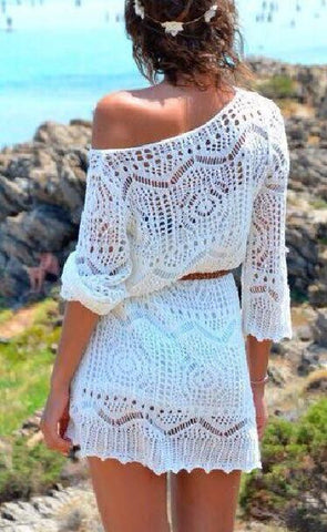 Crochet White Mini Dress