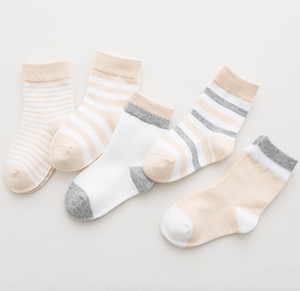 Five Pairs Of Kids Socks