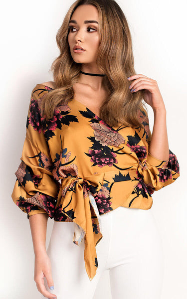 Floral Cross Blouse