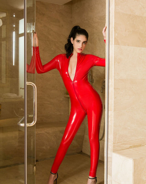 Front Zipper Sexy Jumpsuit