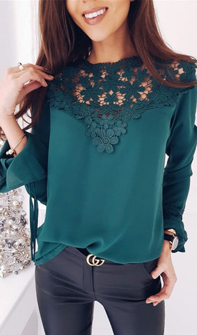 Lace Splicing Top