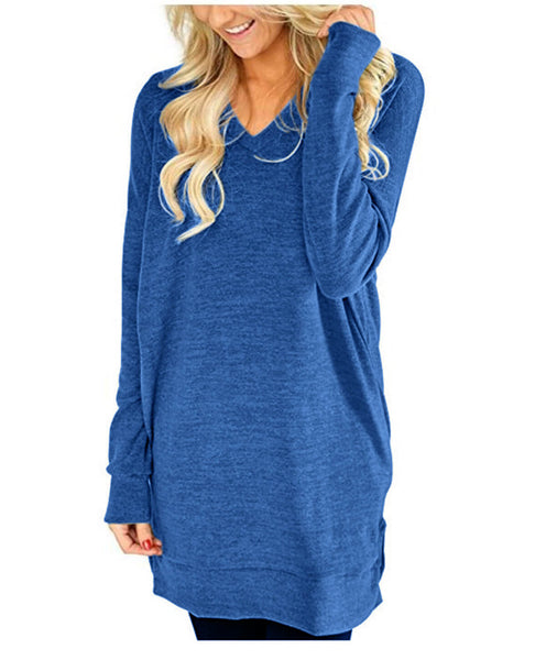 Long Sleeve V Neck T-shirt