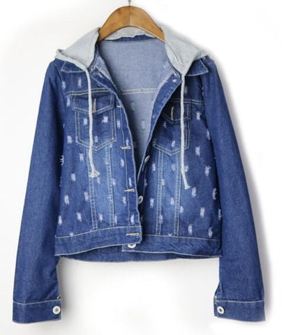 Denim Hooded Jacket