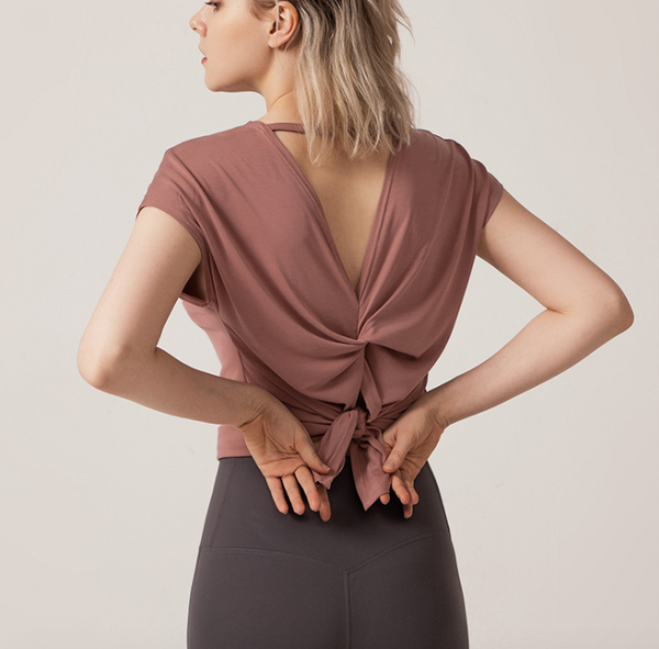 Open Back Blazer Top