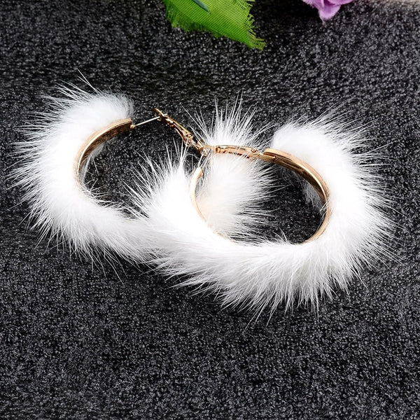 Plush Large Circle Earrings