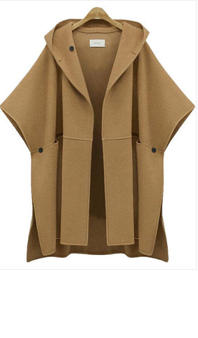 Romoti Solid Color Hooded Coat