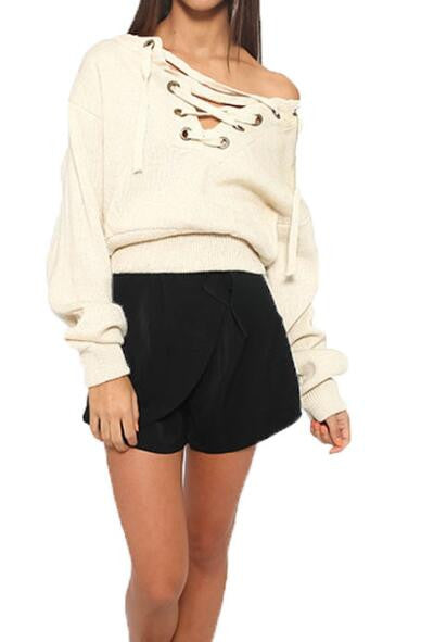 Romoti All To Lace Up Sweater