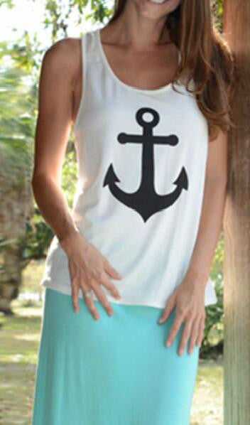 Romoti Anchor Print Tank Top