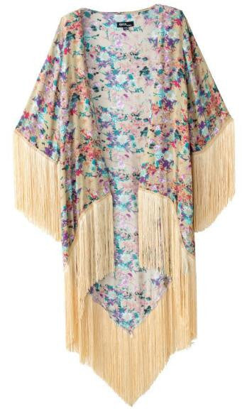 Romoti Back To Tassel Floral Cardigan