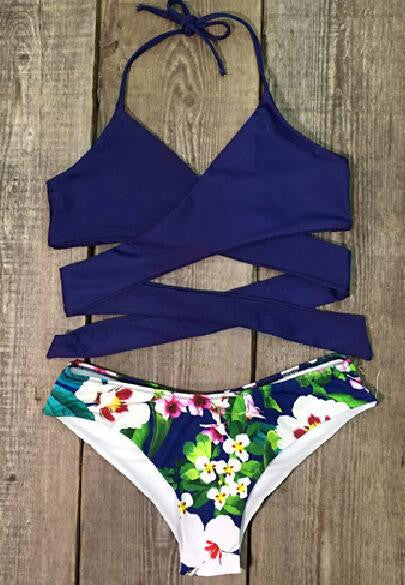 Romoti Beach Waves Cross BIkini Set