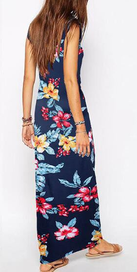 Romoti Beauty And A Beat Floral Sleeveless Maxi Dress