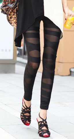 Romoti Black Cross Leggings