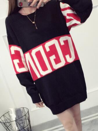 Romoti Casual Letter Print Sweater