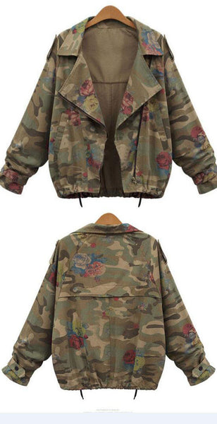 Romoti Catching Feeling Camouflage Floral Coat