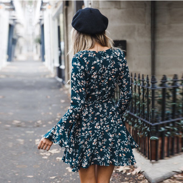 Romoti Floral Long Sleeve Dress