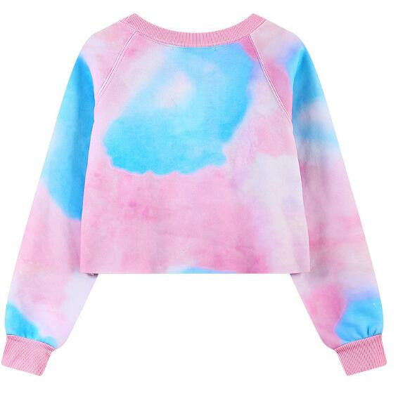 Romoti Pink Crop Top Sweatshirt