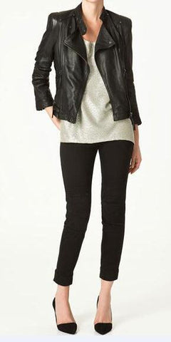 Romoti Cute Night Black PU Jacket