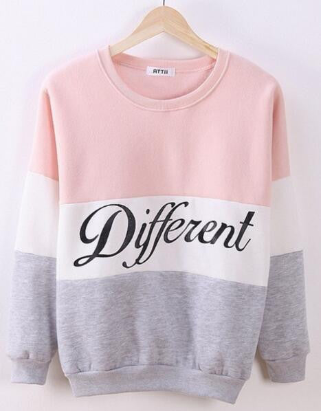 Romoti Different Letter Print Casual Sweatshirt