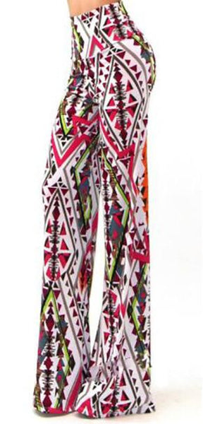 Romoti Floral Print Flared Pants