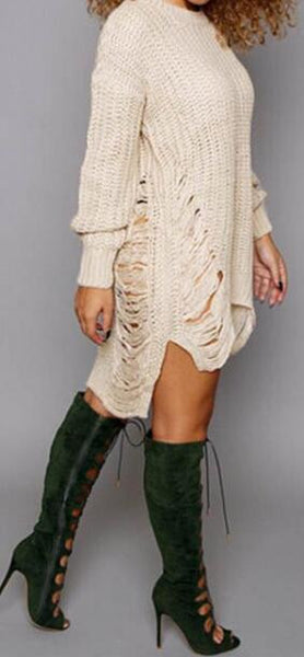 Romoti Get Your Love High Low Sweater Dress